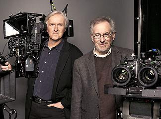 James Cameron et Steven Spielberg (photo TIME)
