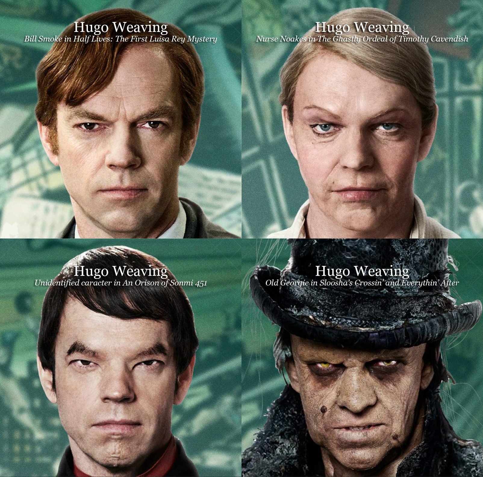 Hugo Weaving dans Cloud Atlas transformation