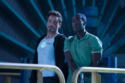Tony Stark (Robert Downey Jr.) et Rhodey (Don cheadle) comme un parfum de buddy-movie