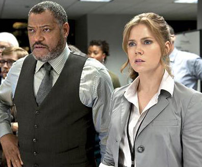 Lois Lane (Amy Adams) & Perry White (Lawrence Fishburne)