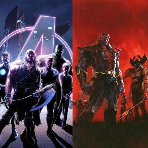 Couvertures prophétiques d'Avengers 35 et New Avengers 24