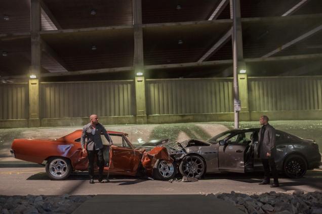Domenic Torreto (Vin Diesel) et Deckard Shaw (Jason Statham)
