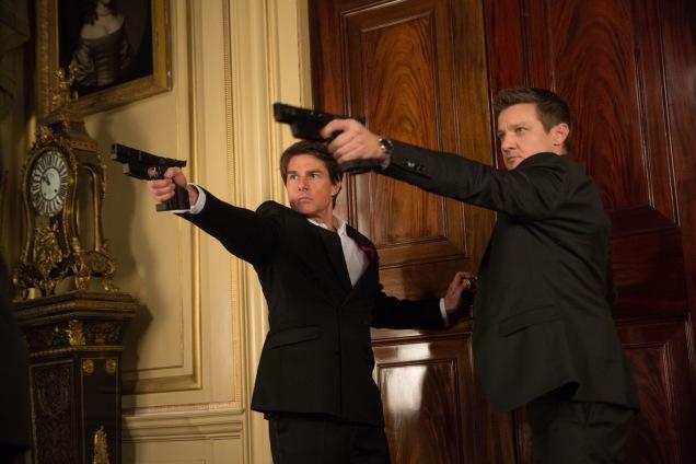 Ethan Hunt (Tom Cruise) et William Brandt ( Jeremy Renner) quelque chose de Bond...