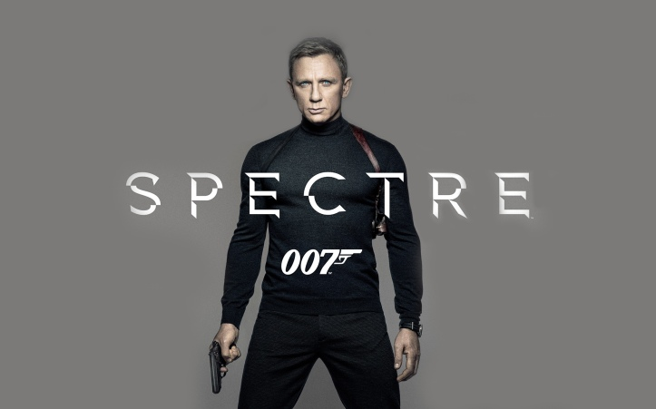 Daniel Craig as James Bond in 2015 Spectre 007 Movie Poster Wallpaper