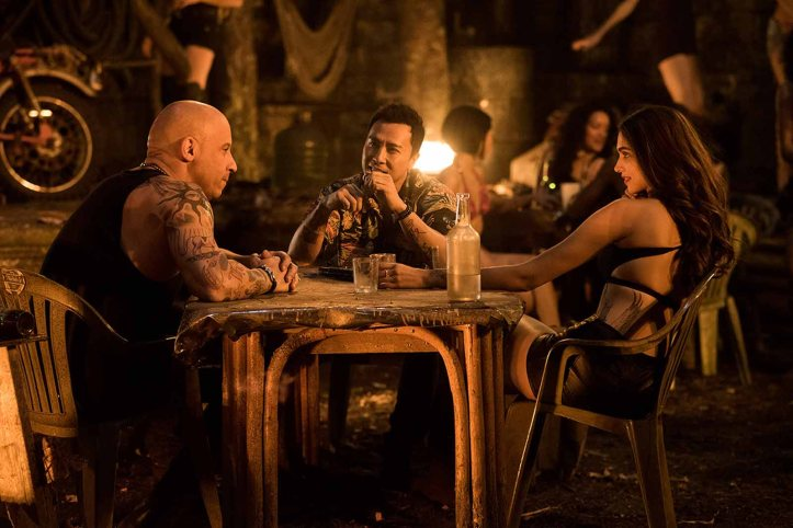 (L-R) Vin Diesel as Xander Cage, Donnie Yen as Xiang and Deepika Padukone as Serena Unger in xXx: RETURN OF XANDER CAGE by Paramount Pictures and Revolution Studios